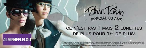 Offre Ma collection Tchin tchin special 30 ans 2 lunettes 1 € de plus